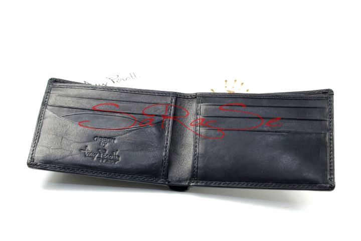 Details About Tony Perotti Briefcase Money Compartment Business Card Case Bull Leather Black